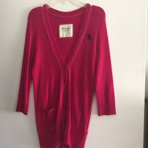 Abercrombie & Fitch long cardigan. Size M